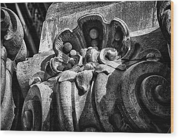 Ansonia Building Detail 16 Wood Print by Val Black Russian Tourchin