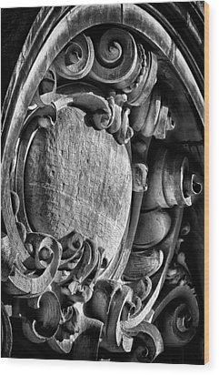 Ansonia Building Detail 17 Wood Print by Val Black Russian Tourchin