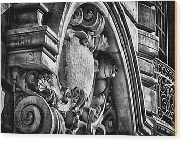 Ansonia Building Detail 19 Wood Print by Val Black Russian Tourchin