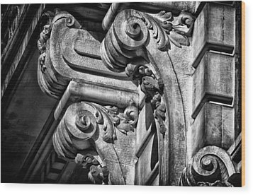 Ansonia Building Detail 21 Wood Print by Val Black Russian Tourchin