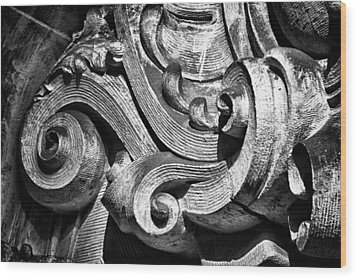 Ansonia Building Detail 23 Wood Print by Val Black Russian Tourchin