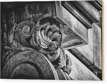 Ansonia Building Detail 24 Wood Print by Val Black Russian Tourchin