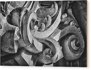 Ansonia Building Detail 25 Wood Print by Val Black Russian Tourchin