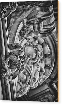 Ansonia Building Detail 26 Wood Print by Val Black Russian Tourchin