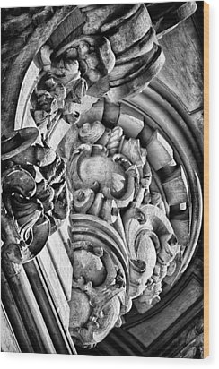 Ansonia Building Detail 28 Wood Print by Val Black Russian Tourchin