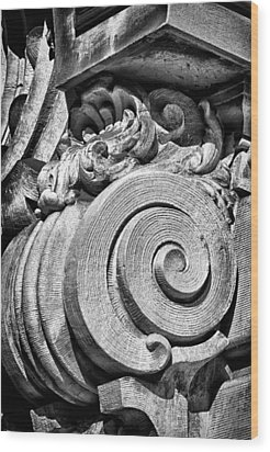 Ansonia Building Detail 29 Wood Print by Val Black Russian Tourchin