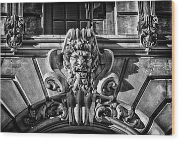 Ansonia Building Detail 3 Wood Print by Val Black Russian Tourchin