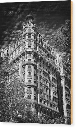 Ansonia Building Detail 32 Wood Print by Val Black Russian Tourchin