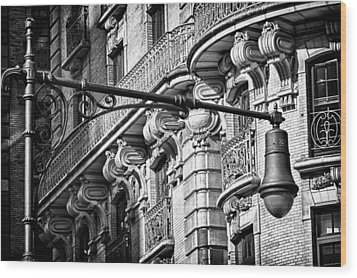 Ansonia Building Detail 34 Wood Print by Val Black Russian Tourchin