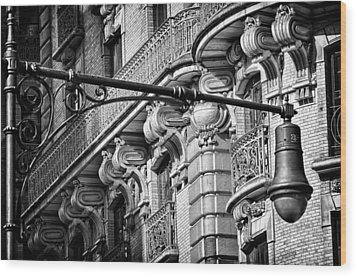 Ansonia Building Detail 35 Wood Print by Val Black Russian Tourchin