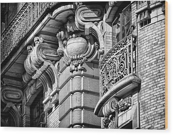 Ansonia Building Detail 37 Wood Print by Val Black Russian Tourchin