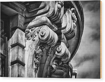 Ansonia Building Detail 38 Wood Print by Val Black Russian Tourchin