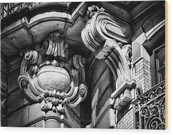 Ansonia Building Detail 39 Wood Print by Val Black Russian Tourchin