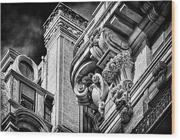 Ansonia Building Detail 41 Wood Print by Val Black Russian Tourchin