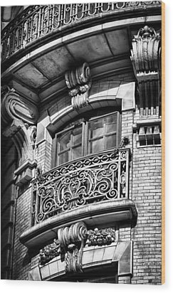 Ansonia Building Detail 43 Wood Print by Val Black Russian Tourchin