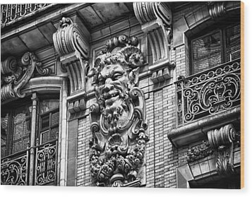 Ansonia Building Detail 44 Wood Print by Val Black Russian Tourchin
