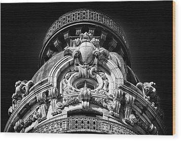 Ansonia Building Detail 47 Wood Print by Val Black Russian Tourchin