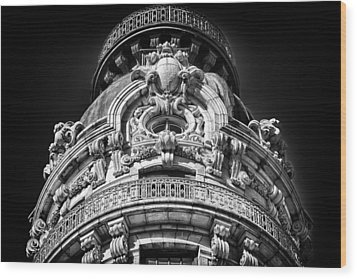 Ansonia Building Detail 48 Wood Print by Val Black Russian Tourchin