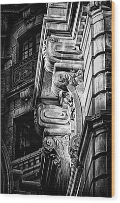Ansonia Building Detail 49 Wood Print by Val Black Russian Tourchin