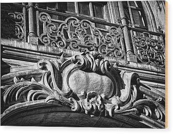 Ansonia Building Detail 5 Wood Print by Val Black Russian Tourchin