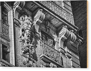 Ansonia Building Detail 6 Wood Print by Val Black Russian Tourchin