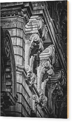 Ansonia Building Detail 7 Wood Print by Val Black Russian Tourchin