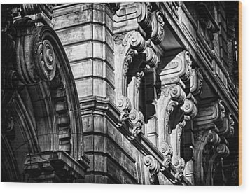 Ansonia Building Detail 8 Wood Print by Val Black Russian Tourchin