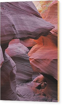 Antelope Canyon - Canvas For Nature's Compositions Wood Print by Christine Till