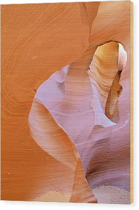 Antelope Canyon - Magnificent Play Of Light And Color Wood Print by Christine Till