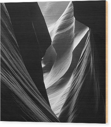 Wood Print featuring the photograph Antelope Canyon Sandstone Abstract by Mike Irwin