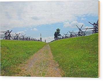 Antietam Battle Of Bloody Lane Wood Print by Cindy Manero