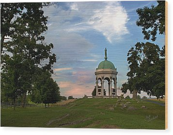 Antietam Maryland State Monument Wood Print by Judi Quelland
