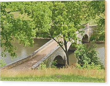 Antietam's Burnside Bridge Wood Print by Cindy Manero