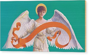 Antique Angel Wood Print