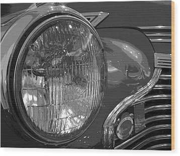 Antique Car Close-up 002 Wood Print by Dorin Adrian Berbier