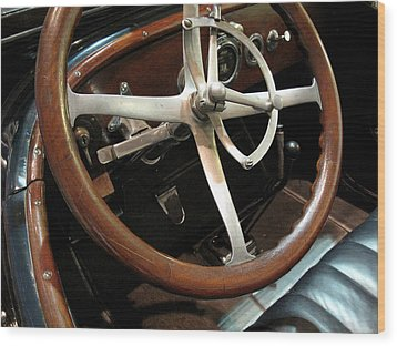Antique Car Close-up 009 Wood Print by Dorin Adrian Berbier