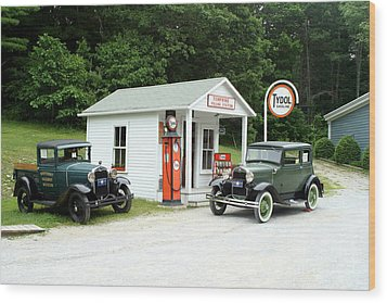 Antique Cars Wood Print by Ted Kinsman