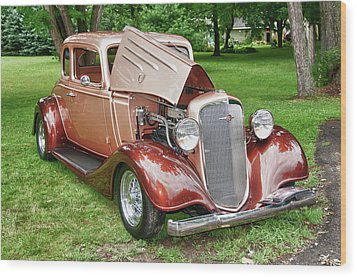Antique Chevy  7757 Wood Print by Guy Whiteley