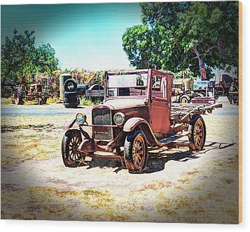 Wood Print featuring the photograph Antique Chevy Truck by William Havle