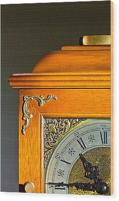 Antique Clock  Wood Print by Ken Hunter