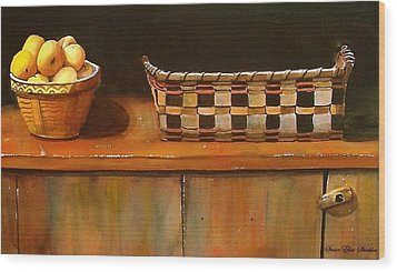 Antique Cupboard Wood Print