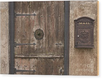Antique Dutch Door And Mailbox Wood Print by Will & Deni McIntyre