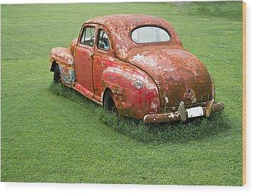 Antique Ford Car 5 Wood Print by Douglas Barnett