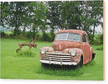 Antique Ford Car 6 Wood Print by Douglas Barnett