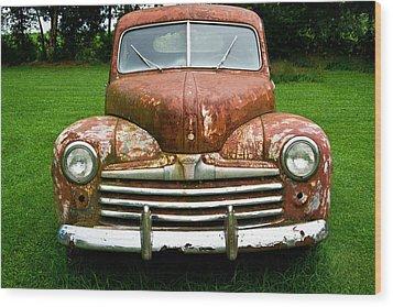 Antique Ford Car 8 Wood Print by Douglas Barnett