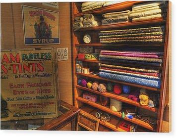 Antique General Store Linen - General Store - Vintage - Nostalgia Wood Print by Lee Dos Santos