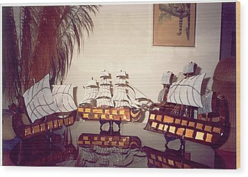 Antique Ships Wood Print by Val Oconnor