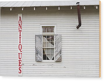 Antique Store Facade Wood Print by Jeremy Woodhouse