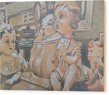 Antique Store Finds Iv Wood Print by Aleksandra Buha