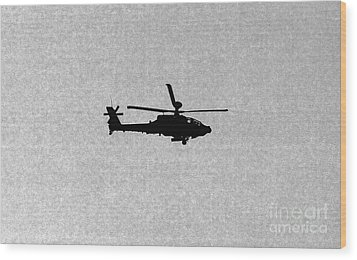 Apache Attack Helicopter Wood Print by Darren Burroughs